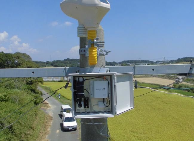 風速計のデータをクラウドへ送信するOpenBlocks